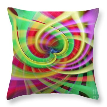 Caught Up In A Colorful Swirl Throw Pillow