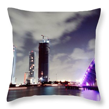 Causeway Bridge Skyline Throw Pillow by Gary Dean Mercer Clark