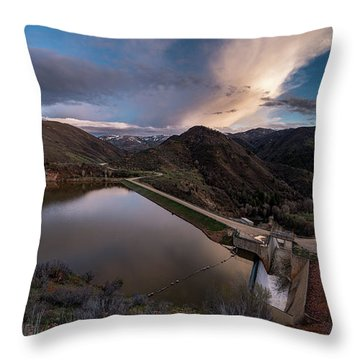 Causey Spring Sunset Throw Pillow by Justin Johnson