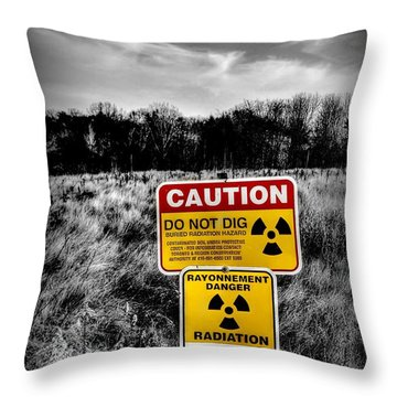 Throw Pillow featuring the photograph Caution by Michaela Preston