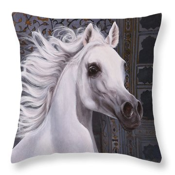 Cavallo A Punta Throw Pillow
