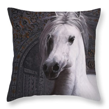 Cavallo Col Ciuffo Throw Pillow
