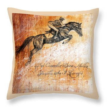 Cavallo Contemporary Horse Art Throw Pillow