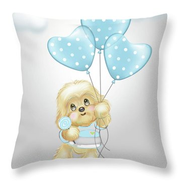 Cavapoo Toby Baby Throw Pillow
