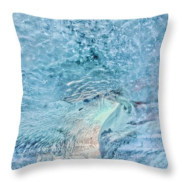 Throw Pillow featuring the photograph Cave Colors by Wanda Krack