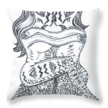Ballo Nero Throw Pillow