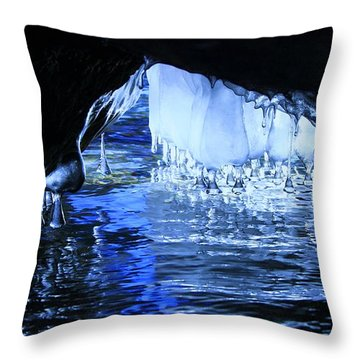 Throw Pillow featuring the photograph Cave Dwellers by Sean Sarsfield