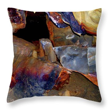 Cave Gems Throw Pillow by Melinda Dare Benfield