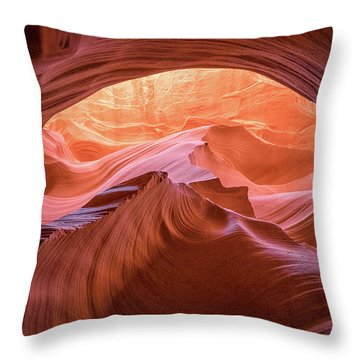 Cave Of Dreams Throw Pillow by Patricia Davidson