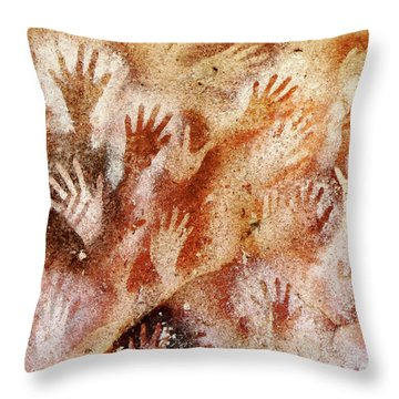Cave Of The Hands - Cueva De Las Manos Throw Pillow