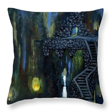 Cave Of Thrones Throw Pillow
