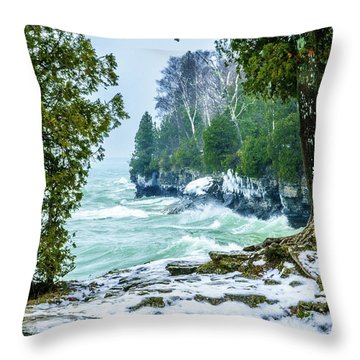 Cave Point #5 Throw Pillow