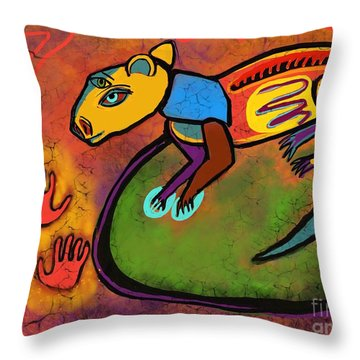 Cave Rat Throw Pillow