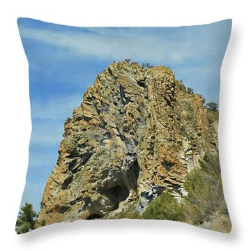 Throw Pillow featuring the photograph Cave Rock At Tahoe by Benanne Stiens