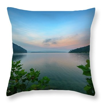 Cave Run Morning Throw Pillow