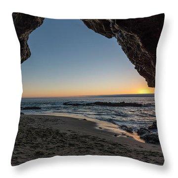Cave Sunset Throw Pillow