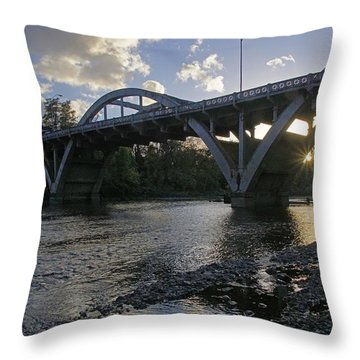 Caveman Bridge At Sunset Throw Pillow