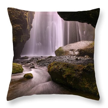 Cavern Of Dreams Throw Pillow