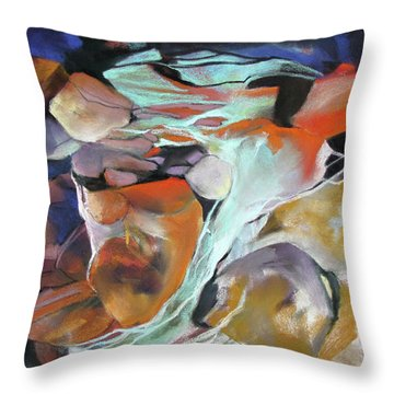 Cavernous Tumble Throw Pillow by Rae Andrews