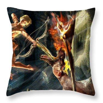 Caverns Of Light Throw Pillow
