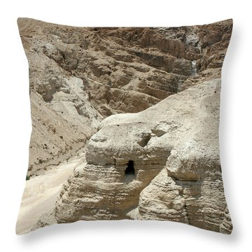 Caves Of The Dead Sea Scrolls Throw Pillow
