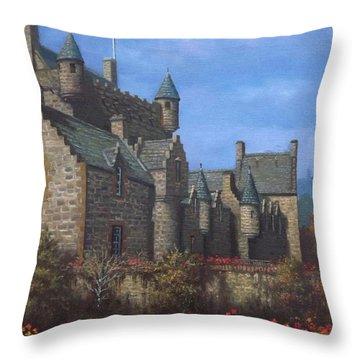 Cawdor Castle In Summertime Throw Pillow by Sean Conlon