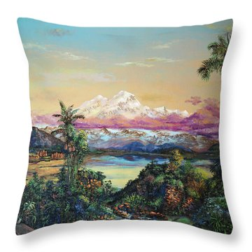Cayambe-ish Throw Pillow
