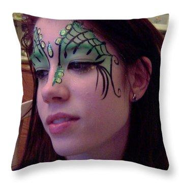 Cayce Dragon Princess Throw Pillow