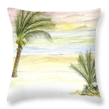 Cayman Beach Throw Pillow