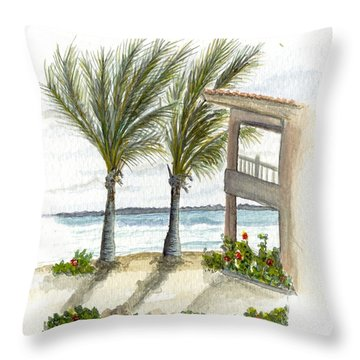 Cayman Hotel Throw Pillow