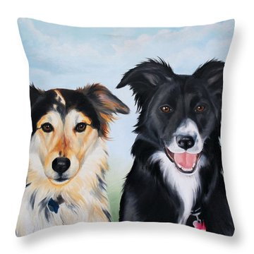 Caesar And Gypsy Throw Pillow