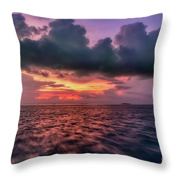 Throw Pillow featuring the photograph Cebu Straits Sunset by Adrian Evans