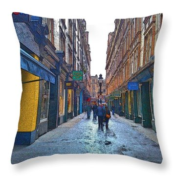 Cecil Court Throw Pillow by Steven Richman