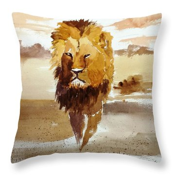 Cecil The Lion Throw Pillow