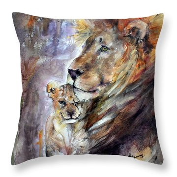Throw Pillow featuring the painting Cecil The Patriarch No More by Ginette Callaway