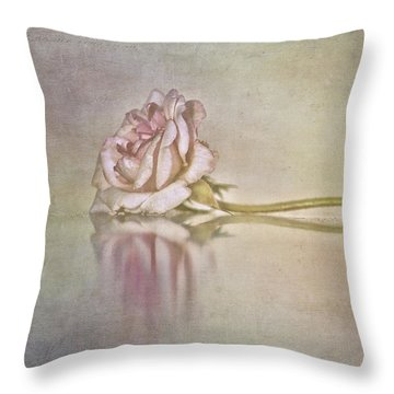 Cecile Brunner Throw Pillow by Linda Lees