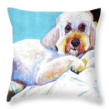 Cecille, Odalisque #2 Throw Pillow