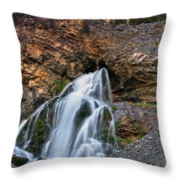 Cedar Creek Falls 2 Throw Pillow by Leland D Howard