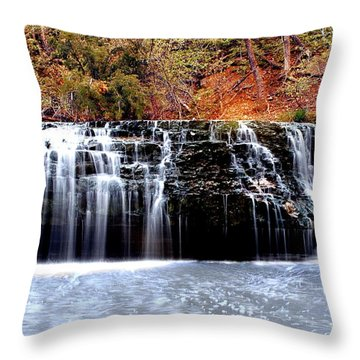 Cedar Creek Falls, Kansas Throw Pillow
