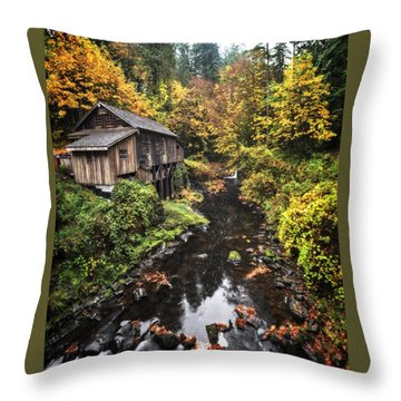 Cedar Creek Grist Mill Color Burst Throw Pillow