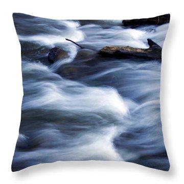Cedar Creek Rapids Throw Pillow