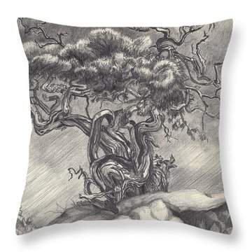 Cedar Dancing On The Eastern Peak Throw Pillow