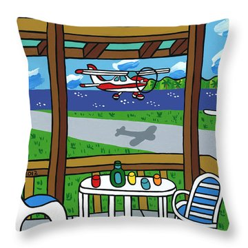Cedar Key Airport Throw Pillow
