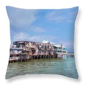 Throw Pillow featuring the photograph Cedar Key by John M Bailey