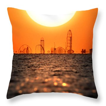 Cedar Point Skyline 2 Throw Pillow