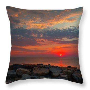 Cedar Point Sunrise Throw Pillow
