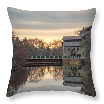 Cedarburg Mill Throw Pillow by James  Meyer