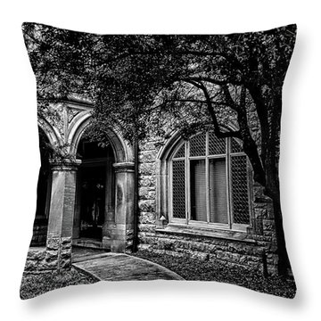 Throw Pillow featuring the photograph Cedarhyrst by Jessica Brawley