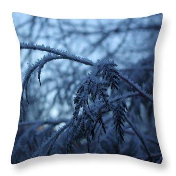 Cedars Of Ice Throw Pillow
