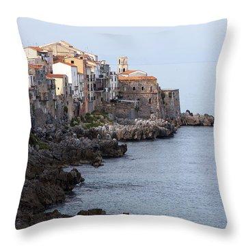Cefalu, Sicily Italy Throw Pillow